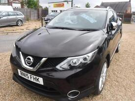 NISSAN QASHQAI 1.5 dCi Tekna ONE OWNER, F/S/H, IMMACULATE CONDITION (black) 2015