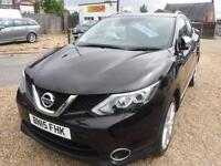 NISSAN QASHQAI 1.5 dCi Tekna ONE OWNER, F/S/H, IMMACULATE CONDITION SAT NAV REVERSE CAM (black) 2015
