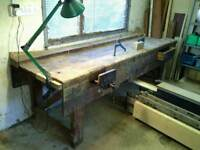 Traditional joiners work bench.