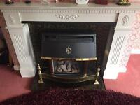 Fireplace and mantle piece