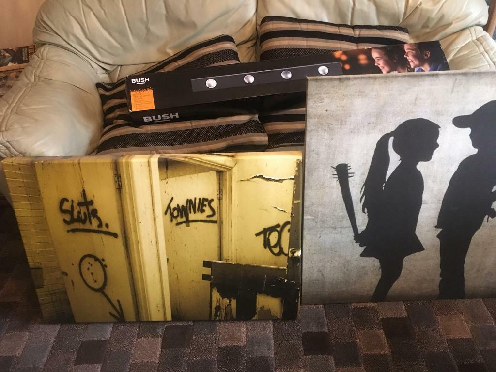 2 banksy style canvases | in Southampton, Hampshire | Gumtree