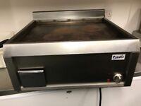 Commercial grill, fridge, freezer