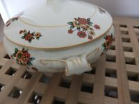PALISSY Tureen x 2, Matching vegetable serving dishes