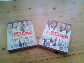 TWO GREYS ANATONY DVD SETS,SERIES 1 TO 4 IN ONE SET,AND SERIES 5 IN SECOND SET