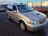 KIA SEDONA 2.9 DIESEL,,, LOW MILEAGE DIESEL FAMILY CAR,, ANY OLD CAR PX WELCOME