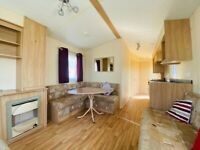 Rent to own £248 per month , 3 bedroom double glazed static caravan used