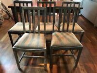 Vintage chairs - unique stylish distressed wood dining chairs (5 pieces)
