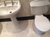 Sottini White Wash Basin and WC