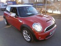 2007 MINI HATCH 1.6 COOPER S 3DOOR,HATCHBACK, FULL SERVICE HISTORY, HPI CLEAR, DRIVES GOOD