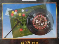 "BRAND NEW SEALED COMPLETE ROULETTE SET GREAT FOR PARTY'S AND/OR CHRISTMAS LARGE 10"" WHEEL"