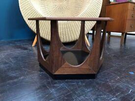 Rare Hexagonal Coffee Table by GPlan. Retro Vintage Mid Century
