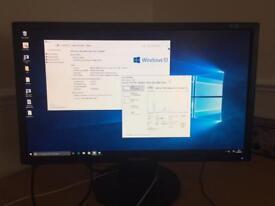 "Super fast Windows 10 Desktop pc & 17"" monitor - great Christmas Present Xmas"