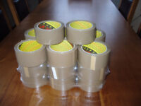 20 Rolls of Scotch 3M Brown Packaging Tape