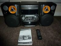 Brand New PHILLIPS C399 mini hifi system cd/cd-r 3 CD changer 2 cassettes with remote