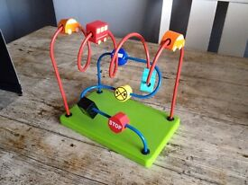 Wooden Vehicle Abacus toy £2 HAROLD HILL