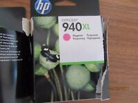 JOB LOT INK CARTRIDGES HP 940 XL 5 CARTRIDGES X 4 COLORS NEW OPENED BUT NOT USED