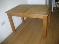 Solid Oak Wood Extending Table 120cm - 165cm