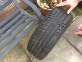 Alloy wheel and tire for sale.