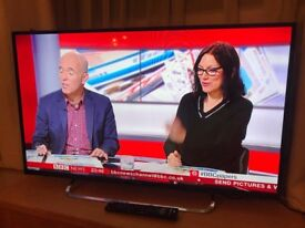 """Jvc 42"""" Full hd internet tv. only few months old.new condition.very slim £200 NO OFFERS.CAN DELIVER"""