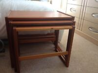 Solid wood Nest of three tables