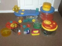ROTA STACK HAMSTER CAGE WITH EXTRAS £12