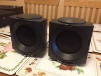 Wharfedale cube speakers for home cinema system