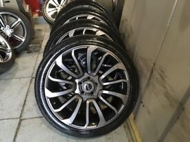 ALLOYS X 4 OF 22 INCH CLAYTONS FOR RANGEROVER/DISCOVERY/FULLY POWDERCOATED IN A STUNNING ANTHRACITE