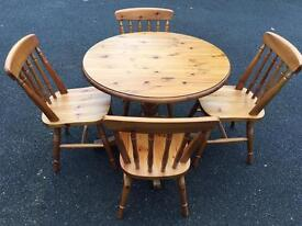 Solid pine ducal table and chairs with delivery