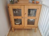 Solid stripped cupboard