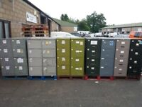 Selection on metal four draw filing cabinets
