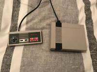 NES classic mini with one controller.