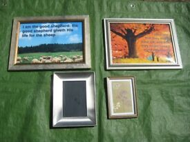 2 Sets of Glazed Picture Frames - 4 Hanging and 4 Standing - Each Set £5.00