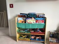 Child's toy and book storage unit.