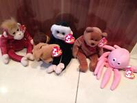 TY beanie Babies £2.00 each or all for £8.00