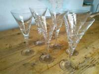 Beautiful tall and heavy wine/cocktail glasses x6