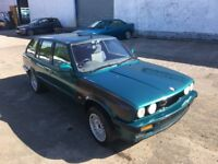BMW E30 318I LUX TOURING Green - Spares or repairs