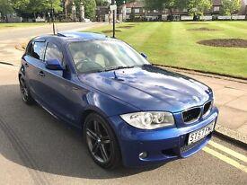 57 REG BMW 118D AUTO M SPORT BLUE SUNROOF XENONS CREAM LEATHER VERY CLEAN NOT 120D 123D 318D 320D