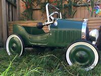 Children's Racing Green Pedal Car