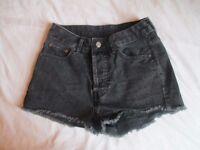 Black Denim Shorts Size 8