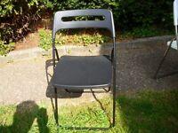 Single Black IKEA folding chair