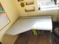 Large Sturdy Corner Desk with a cable manager at the back