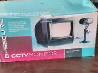 CCTV System camera and monitor boxed with leads
