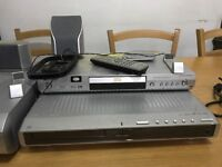 Pioneer DVD player with Amplifier, Sub Woofer and Speakers