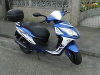 imaculate as new learner legal cheap to run 125 cc sinnis shuttle £ 800no offers