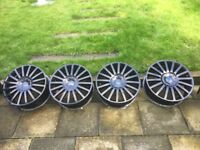 """18"""" Black Alloy Wheels for Ford Mondeo ST 2005"""