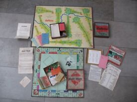 x3 Vintage 1950s Board Games MONOPOLY, GOLFETTE and BRRRR! Complete Collectable Car Race Golf Money