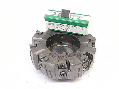 Used Lovejoy Indexable Face Mill 4 Left Hand 4gxal6-1h With 10pcs. Of Inserts