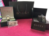 Gucci watches original with paperwork adjustable straps