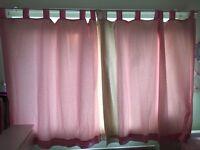 Next pink poka dot curtains