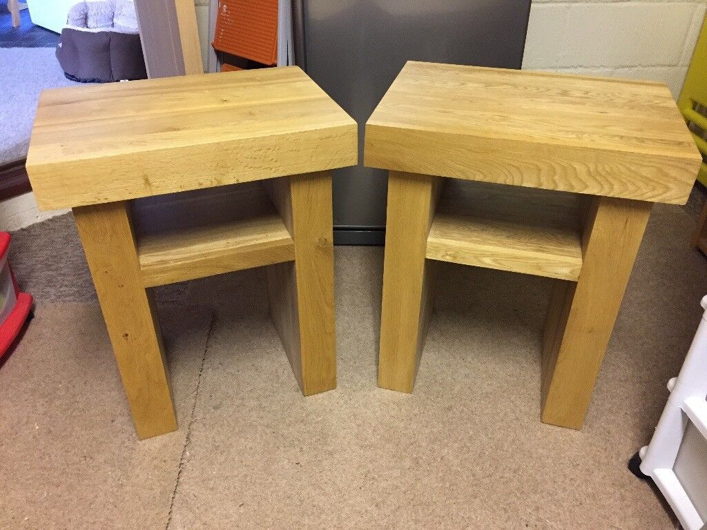 Two Solid Wood Side Tables - Excellent Condition